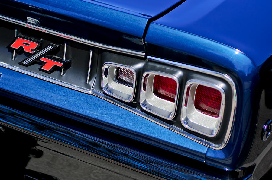 Emblem Photograph - 1968 Dodge Coronet Rt Hemi Convertible Taillight Emblem by Jill Reger