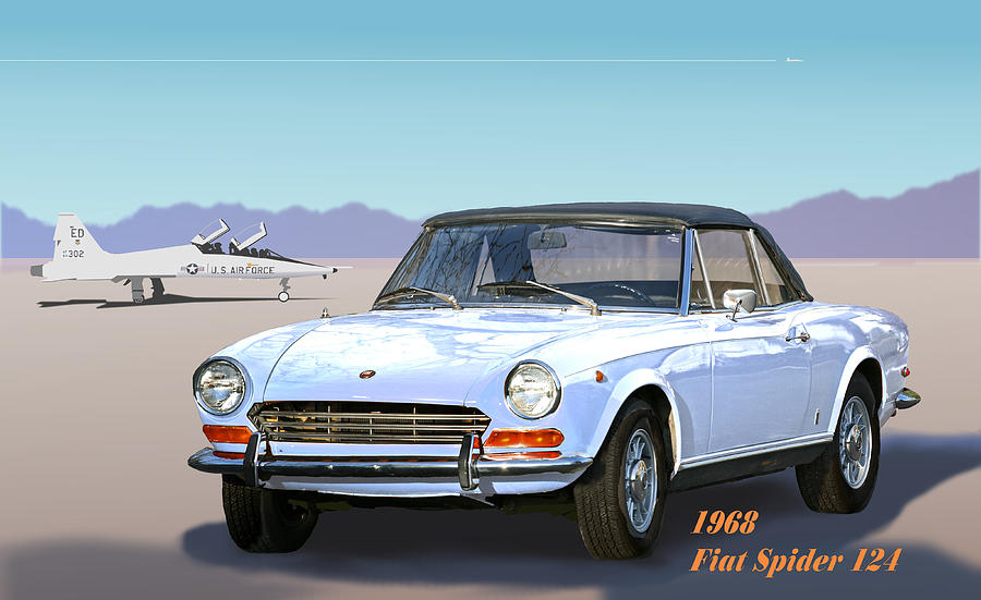 1968 Fiat Spider 124 Digital Art by Robert Bissett
