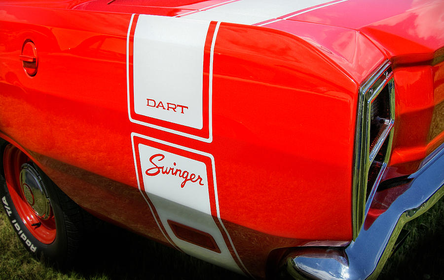 Mopar Photograph - 1969 Dodge Dart Swinger 340 by Thomas Schoeller