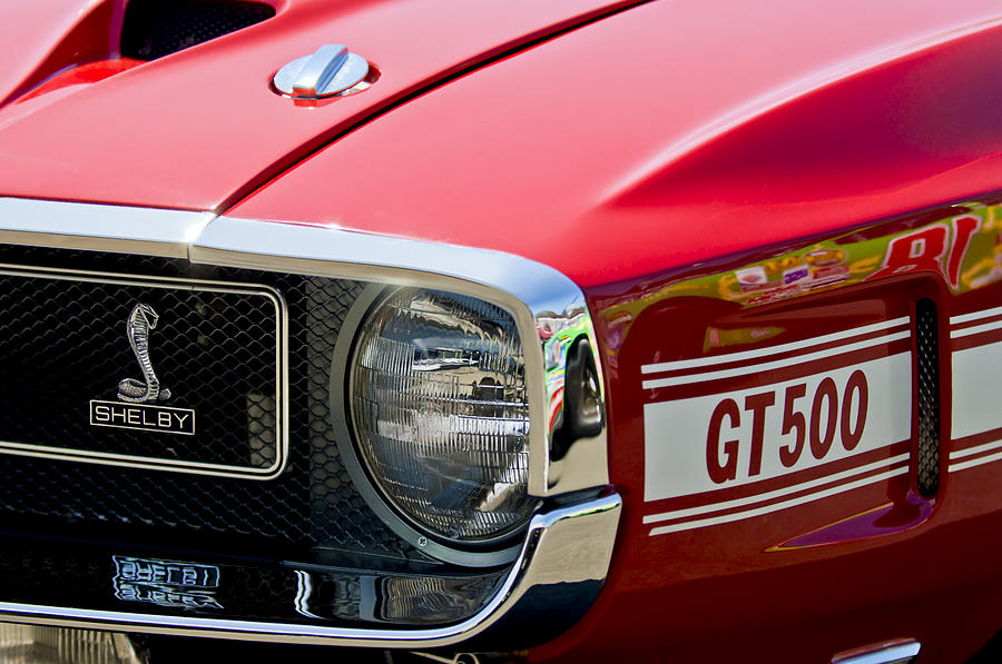 1969 Shelby Gt500 Convertible 428 Cobra Jet Grille Emblem