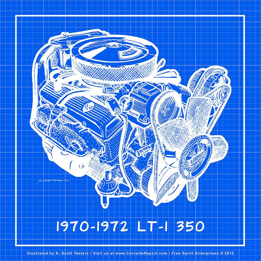 K scott teeters website 1970 1972 lt 1 corvette engine reverse blueprint by k scott teeters malvernweather Gallery