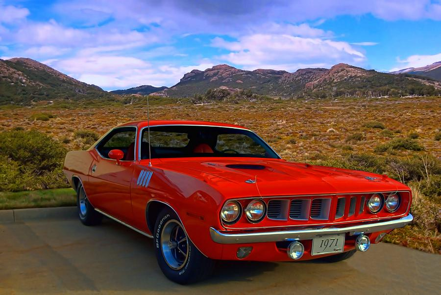 1971 Plymouth Barracuda Photograph By Tim Mccullough