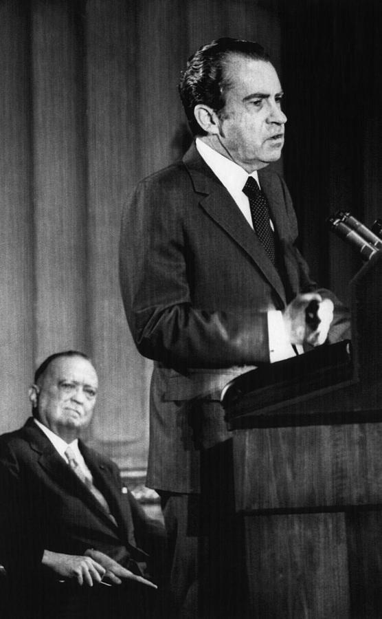 1970s Photograph - 1971 Us Presidency.  Fbi Director J by Everett