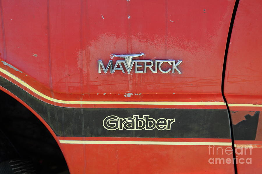 1972 Ford Maverick Grabber Photograph - 1972 Ford Maverick Grabber . 5d16294 by Wingsdomain Art and Photography