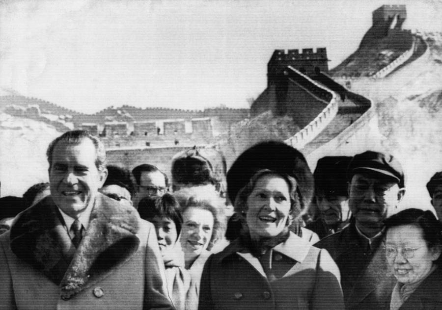 1970s Photograph - 1972 Us Presidency.  President Richard by Everett
