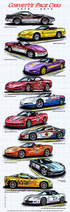 1978 - 2008 Indy 500 Corvette Pace Cars by K Scott Teeters