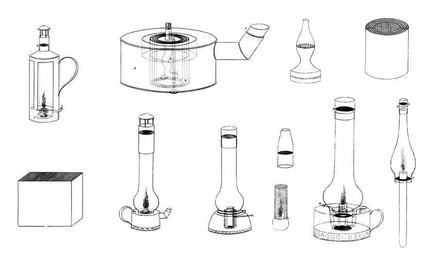 Equipment Photograph - 19th Century Safety Lamps, Artwork by Library Of Congress