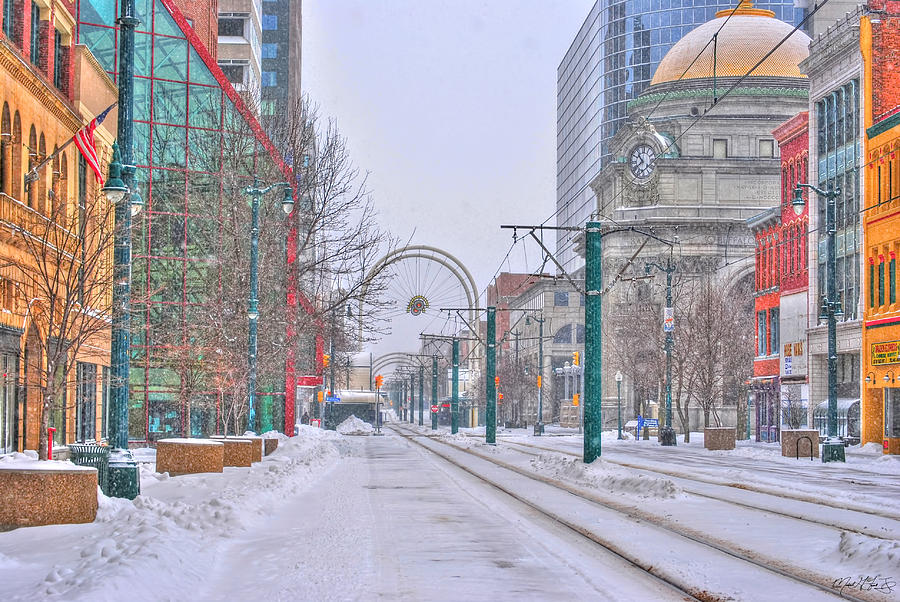 1st Real Snow Golddome 2012 Photograph by Michael Frank Jr