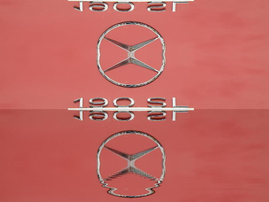 190 Photograph -  Old Mercede-benz Logos by Odon Czintos