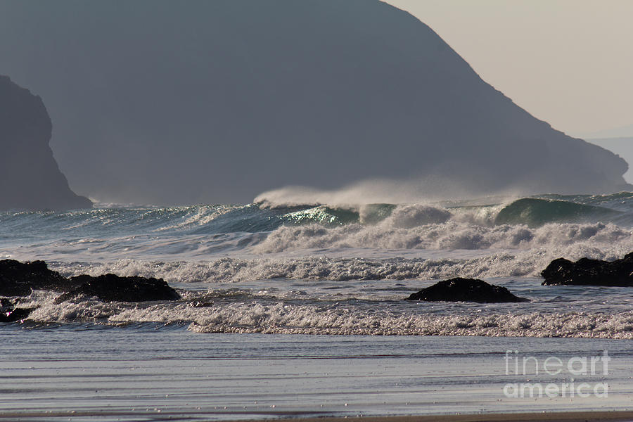 North Coast Photograph -  Porthtowan Cornwall by Brian Roscorla