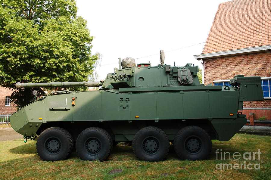 Armored Fighting Vehicles Photograph - A Belgian Army Piranha IIic by Luc De Jaeger