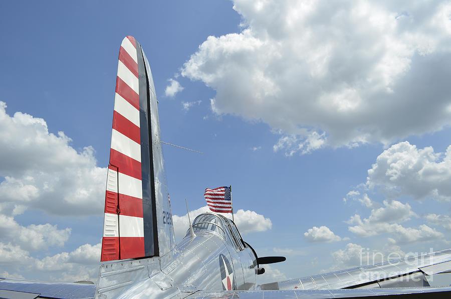 Vultee Aircraft Photograph - A Bt-13 Valiant Trainer Aircraft by Stocktrek Images