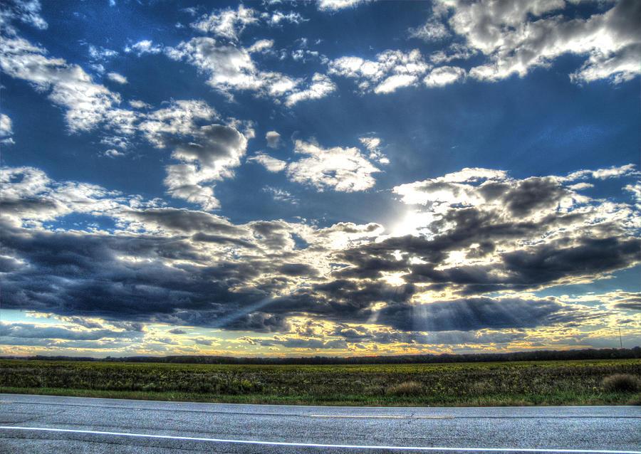 Sun Rays Photograph - A September Sunset by Jackie Novak