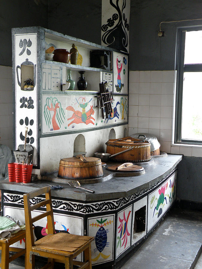 High Quality Still Photograph   A Traditional Chinese Kitchen Corner By Jiayin Ma
