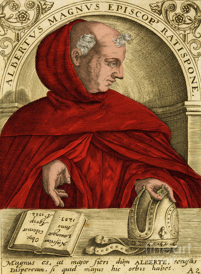 Science Photograph - Albertus Magnus, Medieval Philosopher by Science Source