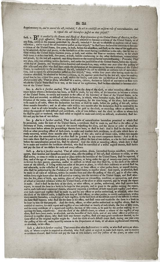 an introduction to the origins the sedition act of 1798 Alien and sedition acts: primary documents of american history (virtual services and programs, digital reference section the alien and sedition acts of 1798.