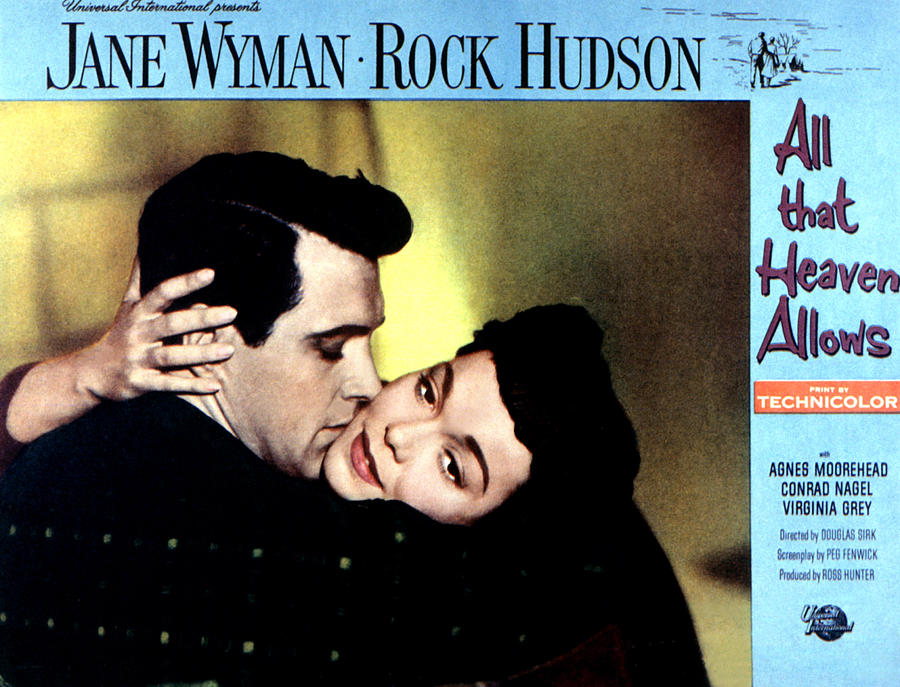 Headlock Photograph - All That Heaven Allows, Rock Hudson by Everett