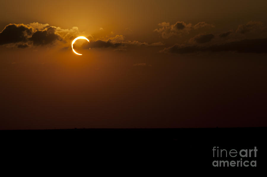 Natural Phenomenon Photograph - Annular Solar Eclipse by Phillip Jones