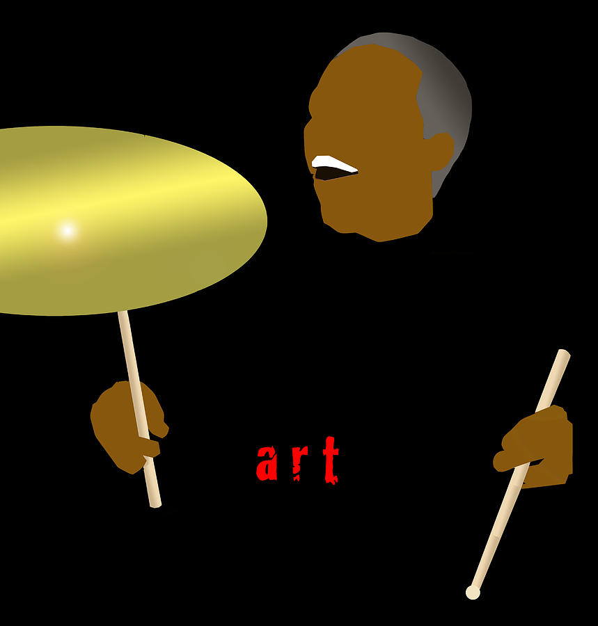 Jazz Digital Art - Art Blakey by Victor Bailey