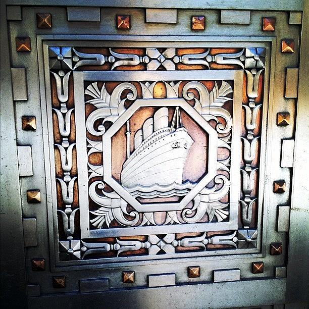 Entrance Photograph - Art Deco Design by Natasha Marco