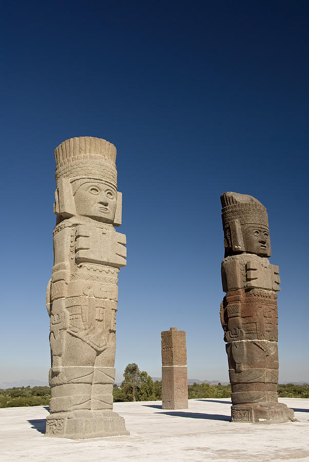 Allende Photograph - Atlantes Warrior Statues by Gloria & Richard Maschmeyer