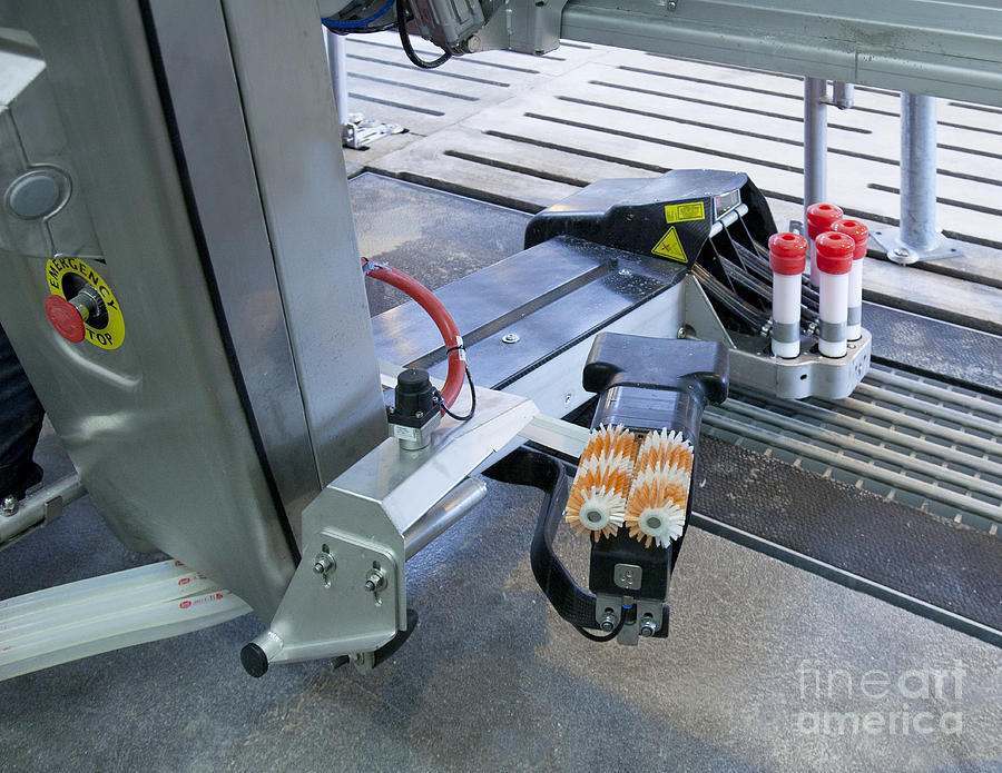 Agricultural Photograph - Automated Milking Machine by Jaak Nilson