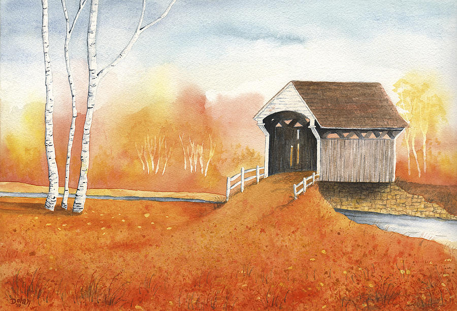 Autumn Color Painting by Greg Dolan