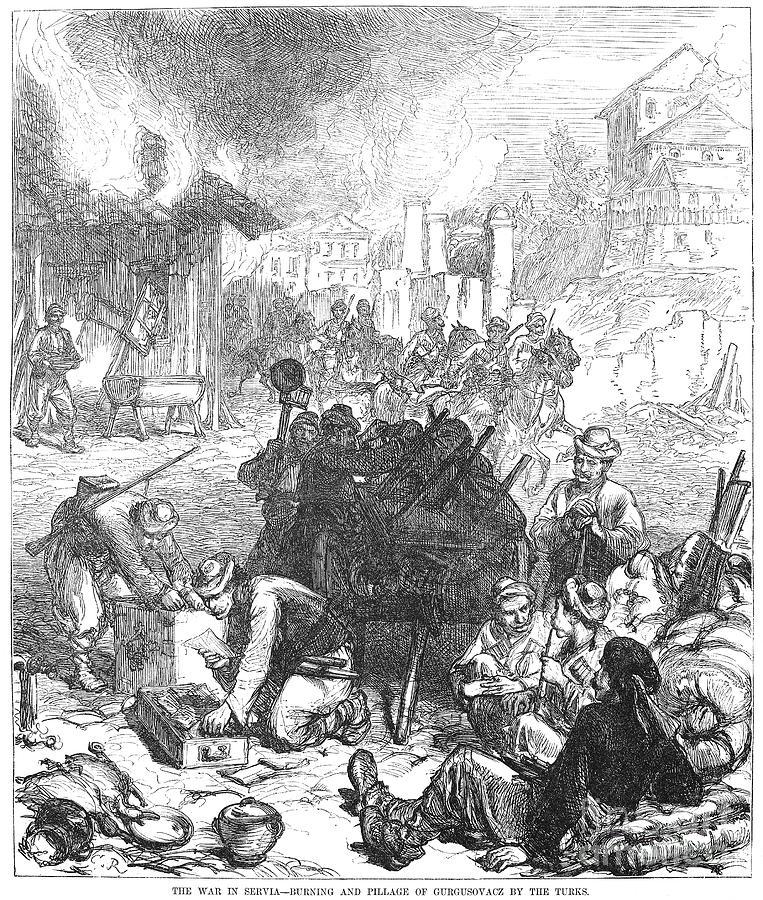 1876 Photograph - Balkan Insurgency, 1876 by Granger