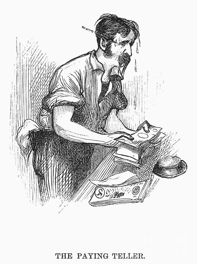 1873 Photograph - Bank Panic, 1873 by Granger