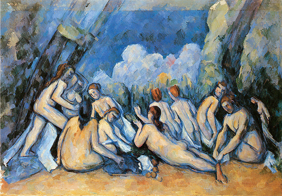 Bathers Painting - Bathers by Paul Cezanne
