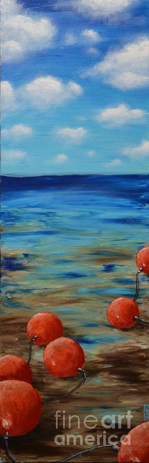 Beach Painting - Beach Buoys by Holly Donohoe