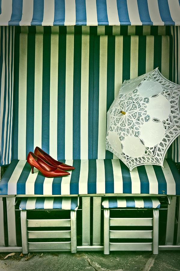 Shoes Photograph - Beach Chair by Joana Kruse