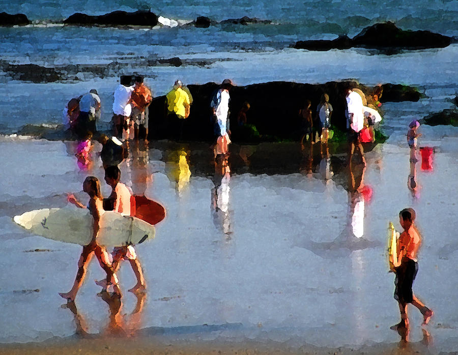 Carpinteria Photograph - Beach Talk by Ron Regalado