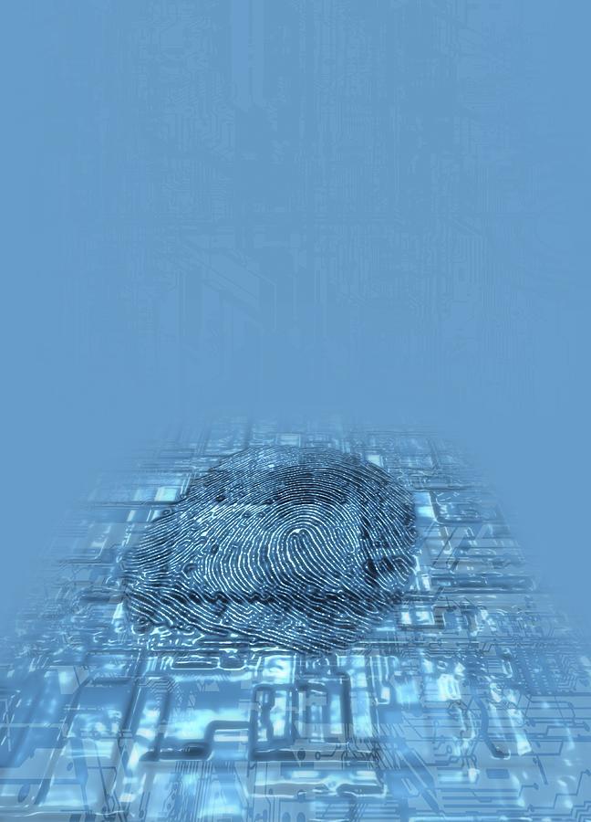 Biometric Security, Artwork Digital Art by Victor Habbick Visions