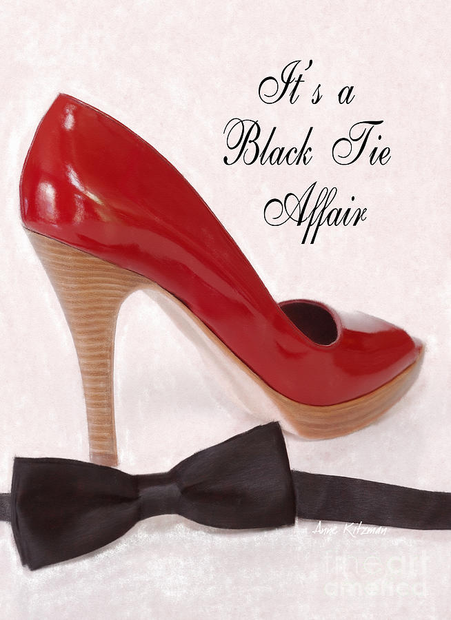 Black Tie Photograph - Black Tie Affair by Anne Kitzman