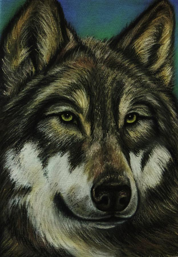 Wolf Painting - Blue Wolf by Lucy Deane