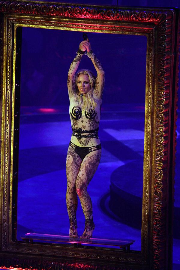 Britney Spears Photograph - Britney Spears On Stage For The Circus by Everett