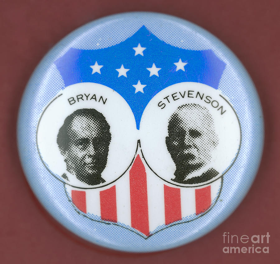 1900 Photograph - Bryan Campaign Button by Granger