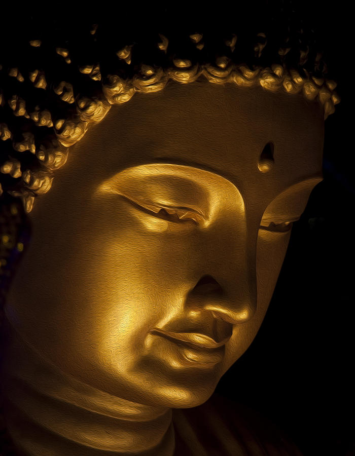 Buddha Oil Painting Effect Photograph By Zoe Ferrie