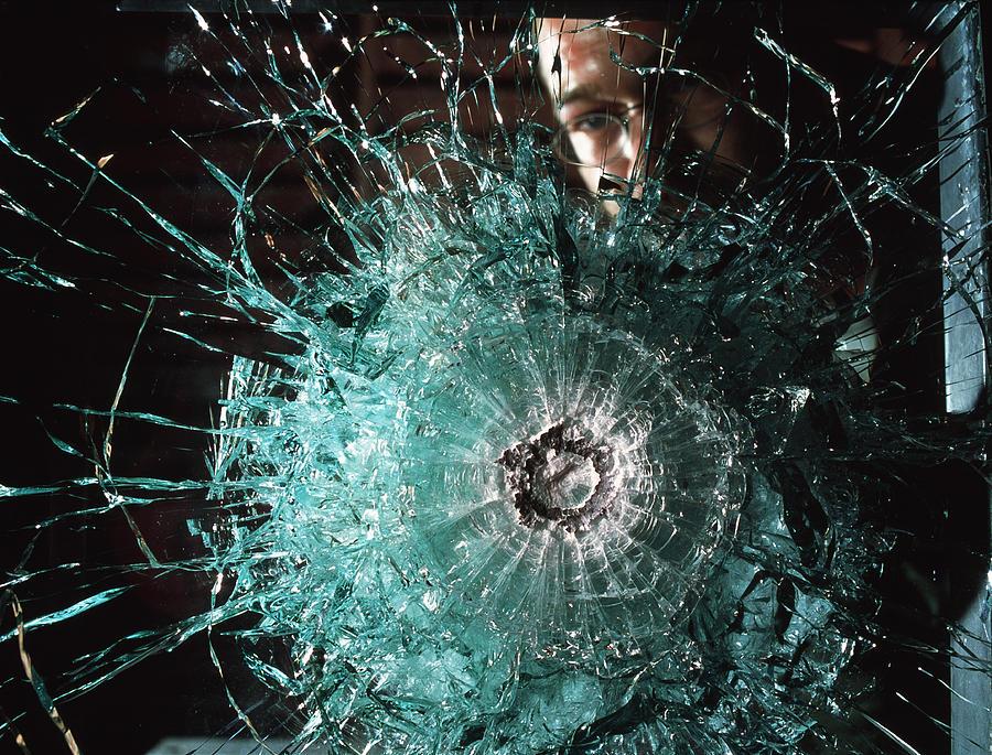 Lead Photograph - Bulletproof Glass by Volker Steger