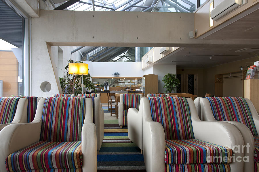 Air Travel Photograph - Business Lounge At An Airport by Jaak Nilson