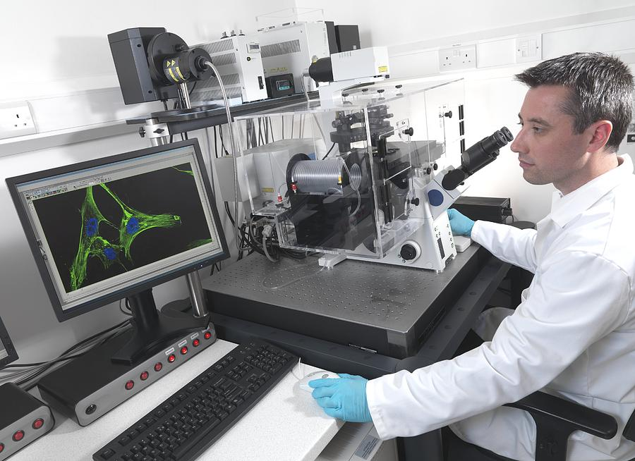 Equipment Photograph - Cell Biology Laboratory by Tek Image