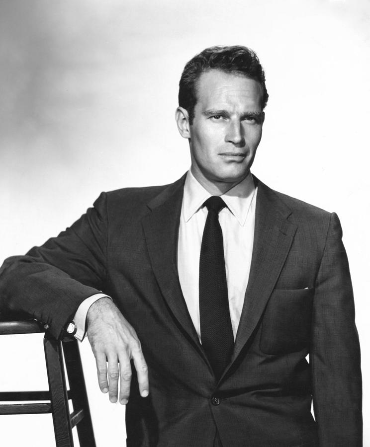 1950s Portraits Photograph - Charlton Heston, Paramount Pictures by Everett