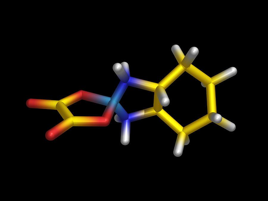 Oxaliplatin Photograph - Chemotherapy Drug Molecule by Dr Tim Evans