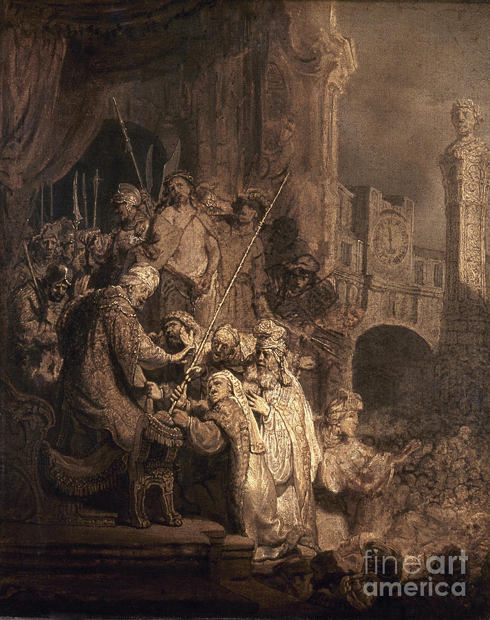 1634 Photograph - Christ Before Pilate by Granger