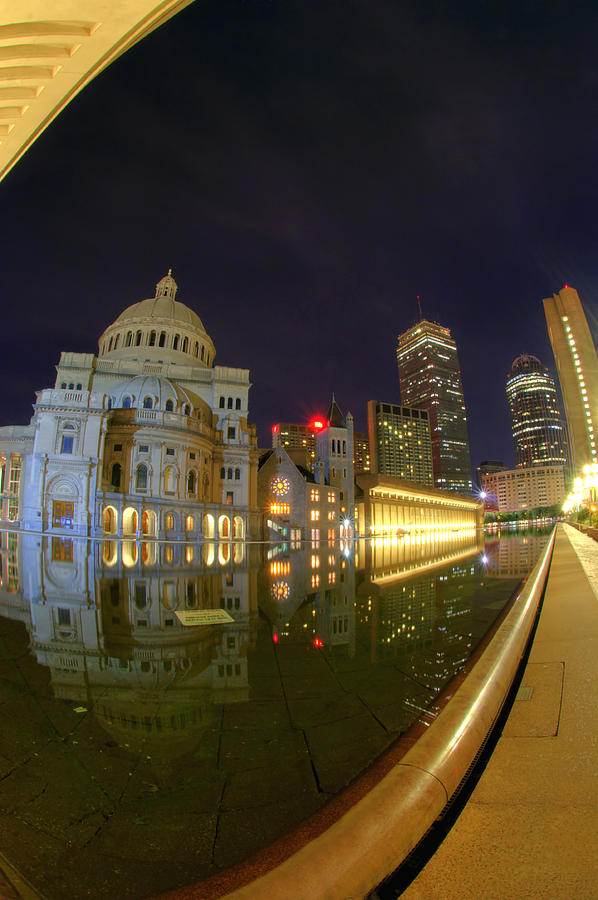 Boston Photograph - Christian Science Center-boston by Joann Vitali