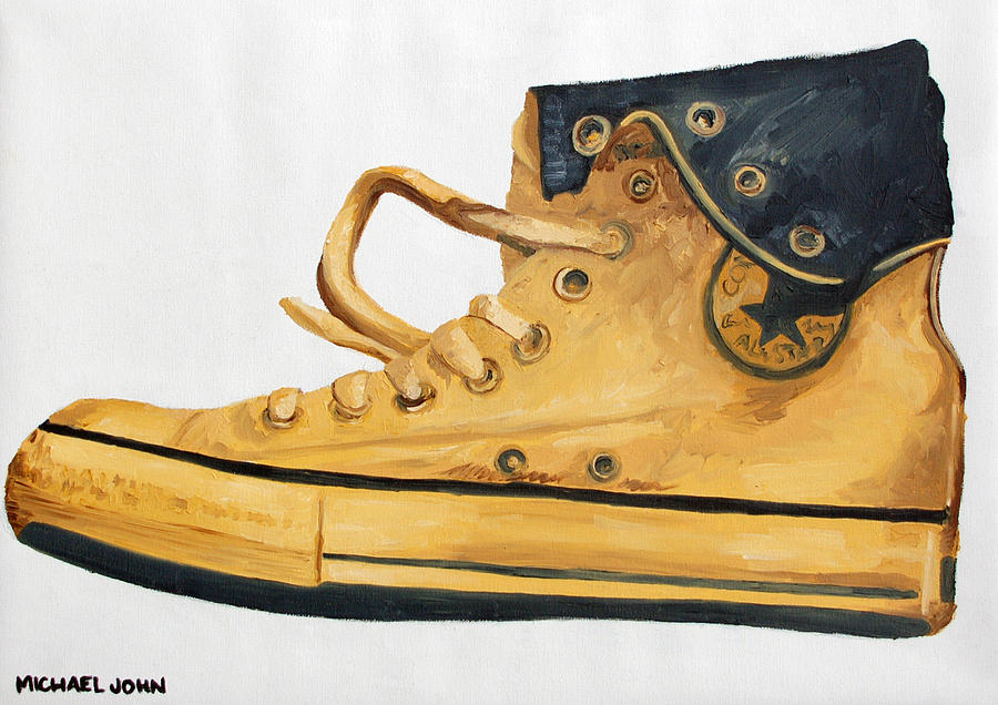 Shoes Painting - Chucks by Michael Ringwalt
