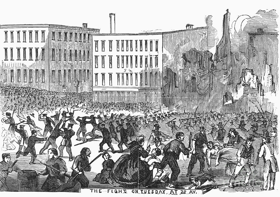 the cause of the new york city draft riots of 1863 New york city draft riots of 1863 in september of 1862, president lincoln announced the emancipation proclamation this was to take effect on january 1, 1863 this document was what freed the slaves in states that were still in rebellion with the union.