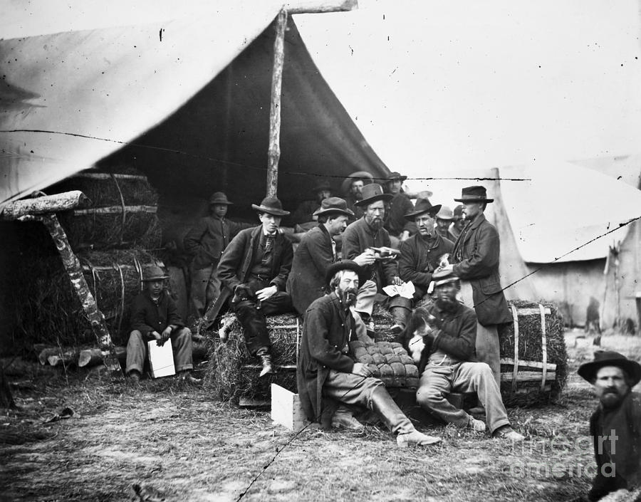 Civil War Union Camp Photograph By Granger