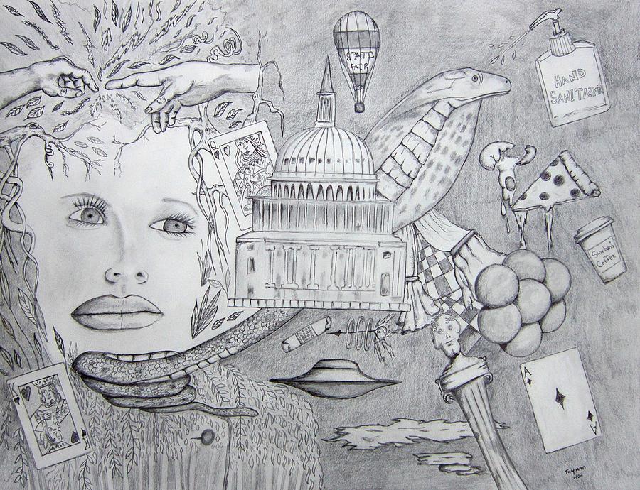 Pretty Face Drawing - Cobra by Dan Twyman